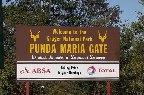 Punda Maria gate Kruger park safari